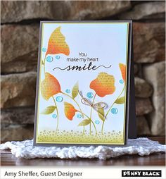 Penny Black, Inc. | 30-269 So Very Much and 30-238 Footnotes stamp sets; 25-002 Flower Dance stencil