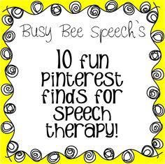 Busy Bee Speech: 10 Fun Pinterest Finds for Speech