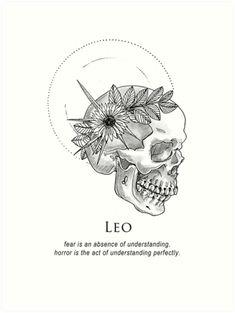 'Leo – Shitty Horoscopes Book XII: Obituaries' Art Print by musterni - leo constellation tattoo Leo Zodiac Facts, Zodiac Art, Zodiac Signs, Astro Lion, Art Zodiaque, Leo Constellation Tattoo, Leo Tattoos, Leo Zodiac Tattoos, Capricorn Tattoo
