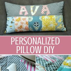 """Personalized Pillows are easy to make and the perfect gift for that """"hard to buy for"""" in your life. Great tutorial with easy instructions by The Sewing Loft"""