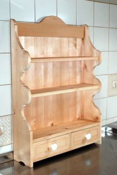 All Wood Furniture, Shaker Furniture, Furniture Projects, Home Furniture, Furniture Design, Small Shelves, Wood Shelves, Shelving, Diy Kitchen Storage