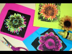In the Art Room: Andy Warhol Inspired Flower Prints | Cassie Stephens | Bloglovin'