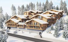 Located in the heart of Les Gets, this new build offers 39 luxury apartments, inspired by traditional Savoyard architecture. Due to the location all amenities are nearby, and you are walking distance from the centre and the slopes. La Croisette, South Of France, Investment Property, Luxury Apartments, New Builds, Cabin, Traditional, Mansions, Architecture