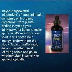 4 Oz Bottle Logical Ionyte 1 Bottle Organic Mineral Electrolyte For Water