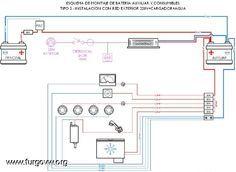 Esquemas batería auxiliar y consumibles para furgos camper