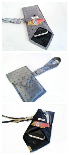 Keep your iPhone or Blackberry or similarly sized electronic device free from scratches in this unique case made from a vintage tie.