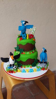 Untitled Rio Cake, Disneyland, Pastel, Cakes, Desserts, Decor, Golden Cake, Party, Meet
