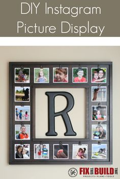 Build this DIY Instagram Picture Display for less than $20!  It's the perfect way to frame out your photo gallery and add some pop.  FixThisBuildThat.com