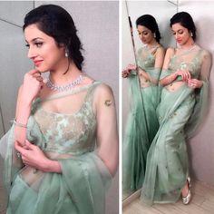 Divya in beautiful saree Trendy Sarees, Stylish Sarees, Fancy Sarees, Saree Blouse Patterns, Designer Blouse Patterns, Saree Blouse Designs, Designer Dresses, Indian Dresses, Indian Outfits