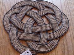 Celtic Knotted Rope Centerpiece or Trivet 17 by AlaskaRugCompany