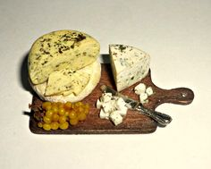 Dollhouse miniature 1:12 Cheese on the board bunch of grapes ... by miniatureVictoriya on Etsy https://www.etsy.com/listing/225740987/dollhouse-miniature-112-cheese-on-the