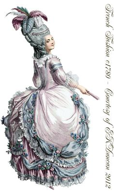 EKDuncan - My Fanciful Muse: 1780 Ladies Fashion Plate with Two Different Looks