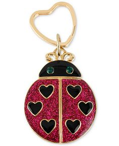 Betsey Johnson Key Chain, Antique Gold-Tone Glitter Ladybug Key Chain - Fashion Jewelry - Jewelry & Watches - Macy's
