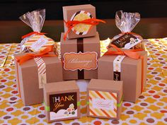 Thanksgiving gift packaging printables