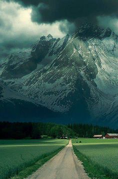 French Alps - valley, valley, (...), mountain!  I could definitely go for a run down that road.