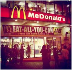 McDonald's EAT-ALL-YOU-CAN @ Session Road in Baguio CIty, Philippines