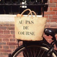 Cabas de courses en toile de jute Smart Design, Courses, Straw Bag, Totalement, Burlap, Reusable Tote Bags, France, Products, Hessian Fabric