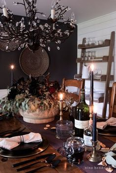 This spooky & elegant Halloween tablescape transitions a moody fall table to a creepy holiday display with three simple tips that can be used year after year! Halloween Table, Halloween Decorations, Table Decorations, Halloween Ideas, Seasonal Decor, Fall Decor, Holiday Decor, Quick And Easy Crafts, Faux Pumpkins