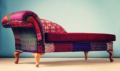 Patchwork chaise lounge  Indian Kantha Quilt by namedesignstudio, $2250.00