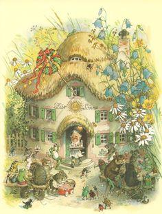 :: Sweet Illustrated Storytime :: Illustration by Fritz Baumgarten Art Fantaisiste, Baumgarten, Elves And Fairies, Fairy Art, Beatrix Potter, Children's Book Illustration, Whimsical Art, Faeries, Vintage Art