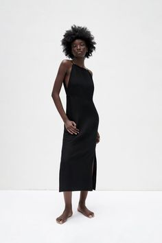 VESTIDO CON LINO | ZARA España Straight Cut, Zara Dresses, The Dress, Dress Making, My Design, Neckline, Fabric, United States, Zip