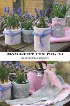 This is fix No. 37 - Make spring decorations with colorful socks - table cover yourself Spring decoration tinker with pretty socks, quickly tinkered and very decorative, DIY spring, homemade, spring-like flo Diy Easter Decorations, Flower Decorations, Diy Osterschmuck, Decoration Inspiration, Colorful Socks, Hallway Decorating, Table Covers, Washi, Easter Eggs