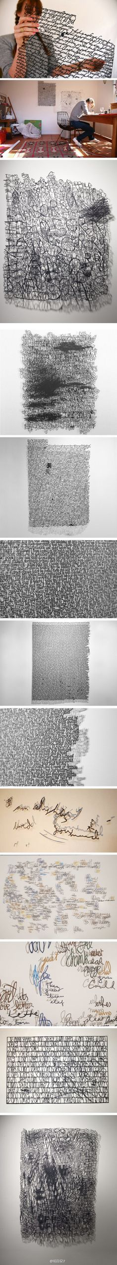 Annie Vought. Text into paper. and more ~ http://annievought.com/