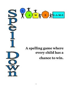 This is a spelling game that your whole class can play. Spell Down allows every child to participate, and each child has a fair chance of winning t...