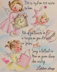 Afrikaanse Quotes, Goeie Nag, Good Night Quotes, Sleep Tight, Hobbies And Crafts, Friendship Quotes, Sweet Dreams, Verses, Bible