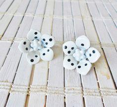 Vintage Polka-dot Flower Power Clip by RetroRevivalBoutique