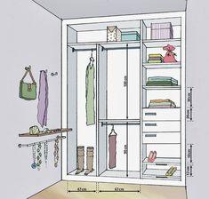 Resultado de imagem para medidas de closet