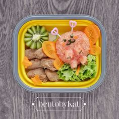Day 70: rice, chicken, carrots&lettuce, kiwi