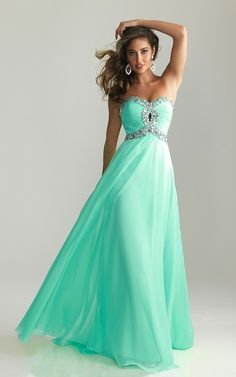 2015 Night Moves 6642 Aqua Prom Dress