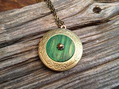 Hobbit Door - the Shire - Lord of the rings Inspired - brass locket - fairy door style. 21.00, via Etsy.