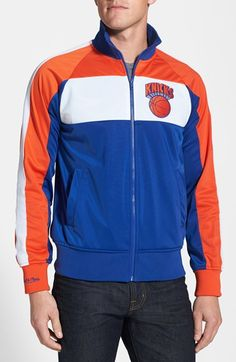 Men's Mitchell & Ness 'New York Knicks - Home Stand' Tailored Fit Track Jacket
