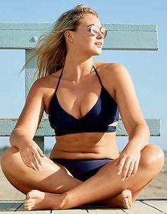 Aerie Wraparound True Scoop Bikini Top , Navy | Aerie for American Eagle