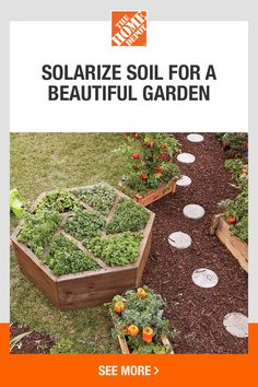 Get your garden in great shape by solarizing the soil. This all-natural technique utilizes the sun to heat the soil and fight off issues in your garden. It works in all types of gardens, but especially in raised beds. Click to learn more from The Home Depot.
