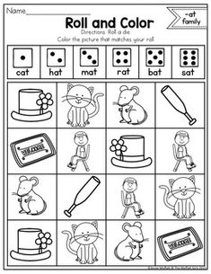 FREE CVC Word Family Worksheets (AT Family) | AWorksheers ...