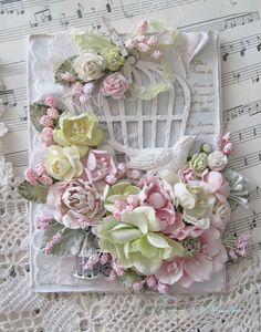 Bird Cage Paper Shabby Chic 29 Ideas For 2019 Heartfelt Creations Cards, Shabby Chic Cards, Beautiful Handmade Cards, Handmade Flowers, Marianne Design, Pretty Cards, Card Tags, Flower Cards, Paper Flowers