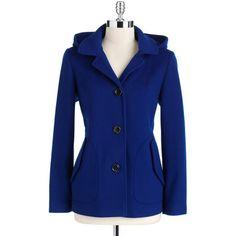 Portrait Plus-Size Hooded Swing Jacket