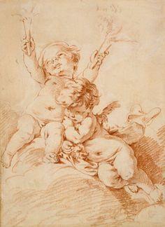 Two Putti - François Boucher - Date unknown