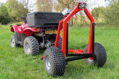 Iron Baltic ATV Log Hauler with Manual Winch Kit :: Motostuff Gear Train, Atv Attachments, Bandsaw Mill, Atv Trailers, Log Splitter, Electric Winch, Terrain Vehicle, Timber Wood, Welding Projects