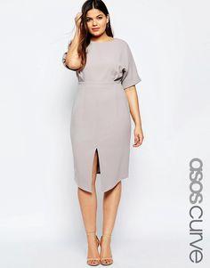 Image 1 of ASOS CURVE Split Front Wiggle Dress