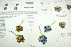 """""""Forbidden Fruit"""" Drop Earrings - Beading Tutorial.  Etsy shop:  barbarabriggsdesigns.etsy.com"""