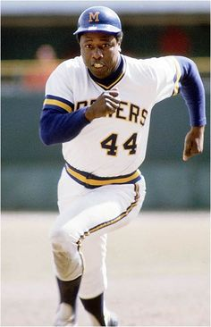 The Great Hank Aaron! He started his career in Milwaukee with the Milwaukee Braves and ended his career with the Brewers! The first to have the most homeruns,over 700..... ~Kelli~