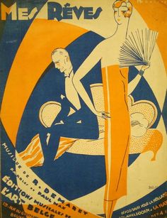 """Auction In Europe - """"Mes rêves"""". Partition chant et piano illustrée pa"""