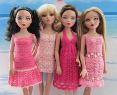The remaining dresses in the Pretty in Pink Sundress collection for Ellowyne and friends.