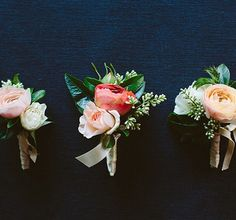 Pin On Corsage Inspiration- lighter colored roses.