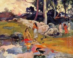 Paul Gauguin:Woman On The Banks Of The River