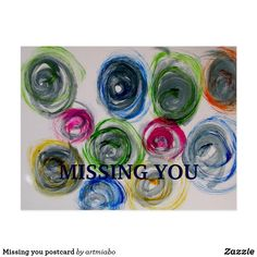 Shop Missing you postcard created by artmiabo. Postcard Size, Postcard Art, Modern Art, Contemporary Art, Miss You, Printable Wall Art, Create Your Own, Arts And Crafts, It Is Finished